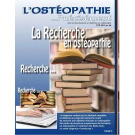Journal Ostéopathie Précisément No46