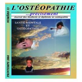 Journal Ostéopathie Précisément No13